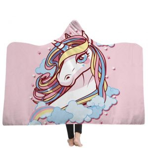 poncho unicorn bow in sky 130x150cm unicorn backpack store
