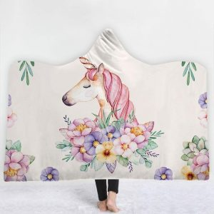 poncho unicorn drawing 150x200cm unicorn backpack store