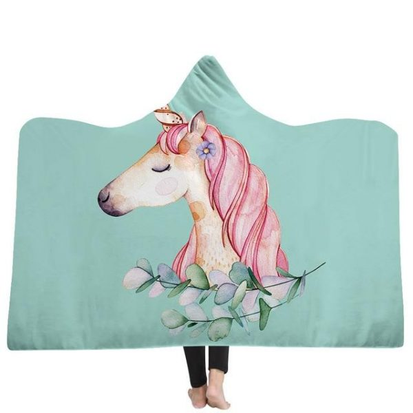poncho unicorn feather 150x200cm not dear