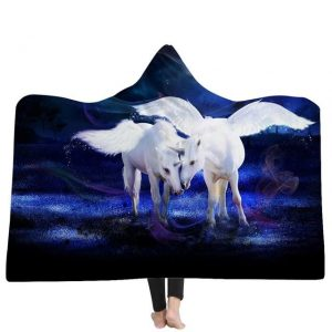 poncho unicorn forest night 150x200cm unicorn backpack store