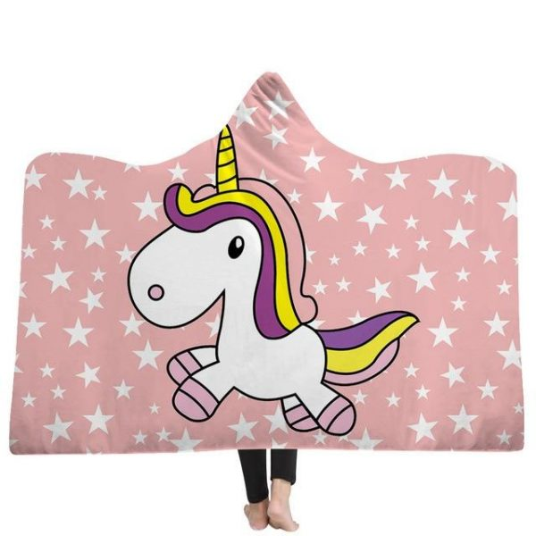 poncho unicorn star kawaii 130x150cm unicorn backpack store