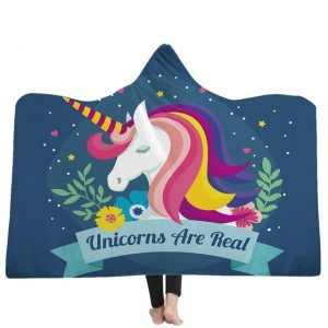 poncho unicorn unicorns are real 130x150cm