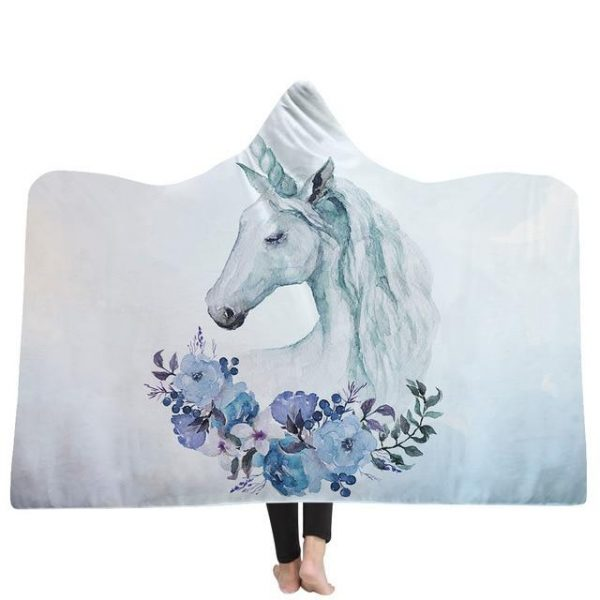 poncho unicorn winter 130x150cm buy