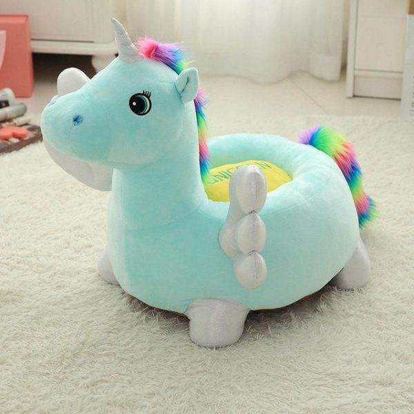 pouf unicorn blue bow in sky 60 cm at sell
