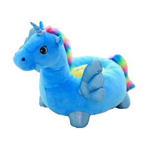 pouf unicorn blue bow in sky 60 cm pouf armchair unicorn