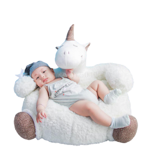 pouf unicorn white 80 cm pouf armchair unicorn