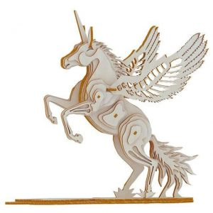 puzzle unicorn in wood 3d price