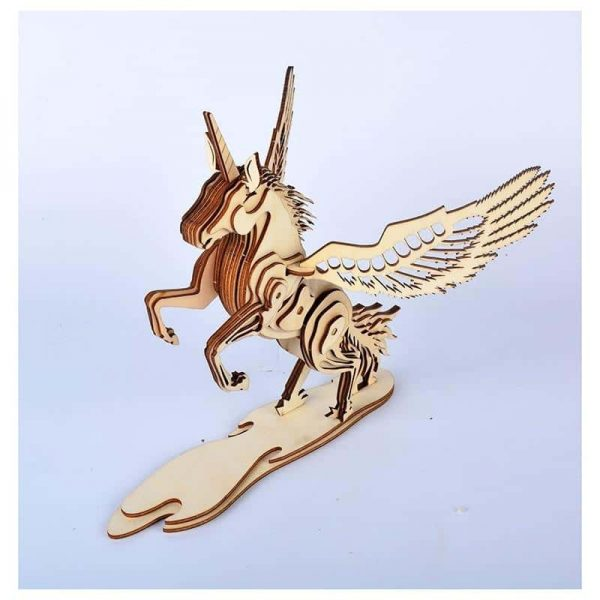 puzzle unicorn in wood 3d unicorn backpack store