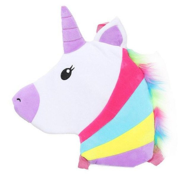 school bag unicorn fluff striped mauve not dear