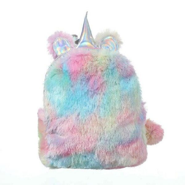 schoolbag unicorn stains bow in sky large yellow