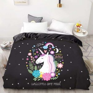 set of bed unicorn are real 200x200cmx1pc at sell