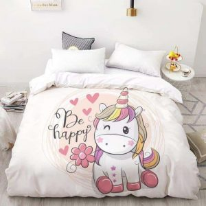 set of bed unicorn be happy 240x220cmx1pc buy