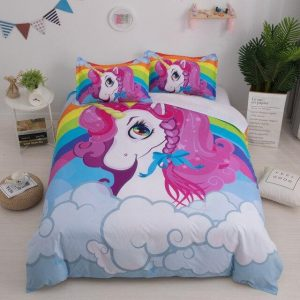set of bed unicorn cloud had double price