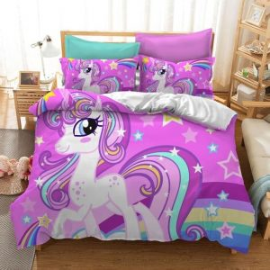 set of bed unicorn cover of quilt us twin 172x218cm not dear