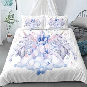 set of bed unicorn crystal us queen 229x229cm at sell