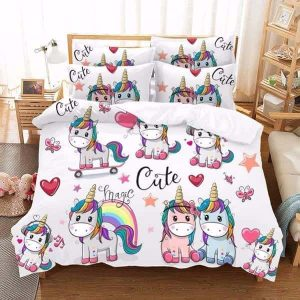 set of bed unicorn cute 2 seats 140