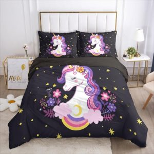 set of bed unicorn dream nocturnal unicorn 001 black d uk double unicorn backpack store
