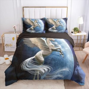 set of bed unicorn earth unicorn 048 black d europe size 1