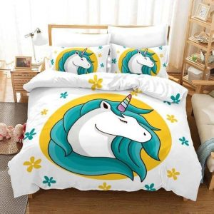 set of bed unicorn emoji 228x228cm buy