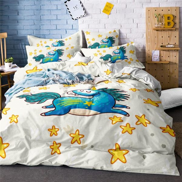 set of bed unicorn funny pillowcase 45x45 price