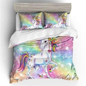 set of bed unicorn galaxy 2 seats 140