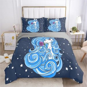 set of bed unicorn hair frozen unicorn 002 gray d uk great king price