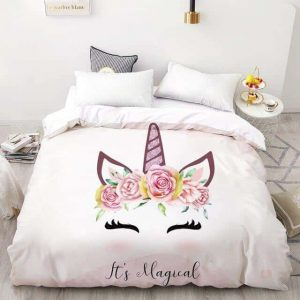 set of bed unicorn head of unicorn 230x220cmx1pc at sell