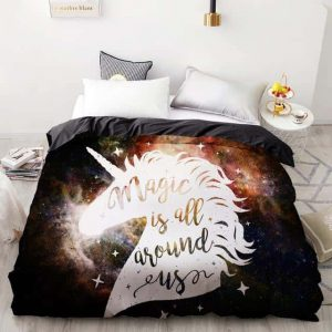 set of bed unicorn magic is all around 260x220cmx1pc not dear