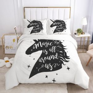 set of bed unicorn magic is all around us usa twin at sell