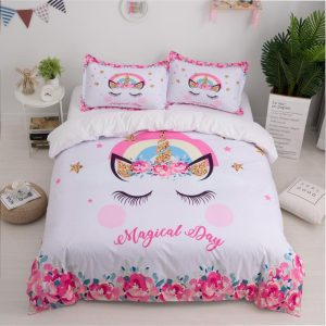 set of bed unicorn magical day had double at sell