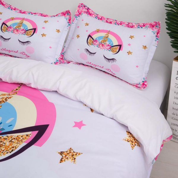 set of bed unicorn magical day had double price