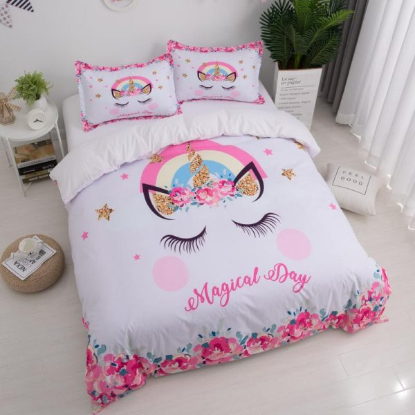 set of bed unicorn magical day had double unicorn backpack store