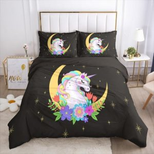 set of bed unicorn moon magic usa king at sell