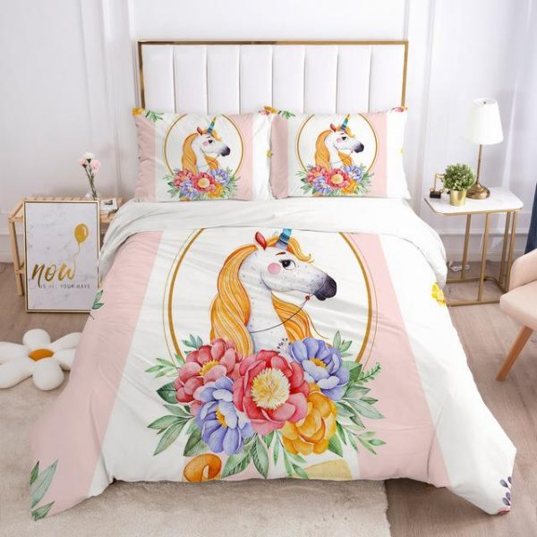 set of bed unicorn pink scratches usa twin buy