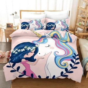 set of bed unicorn princess of unicorn 140x210cm