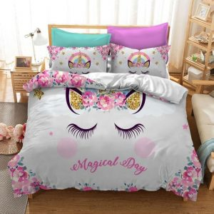 set of bed unicorn sleep divine as picture 1 had double 200x200 cm dish bed sheets