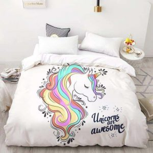set of bed unicorn unicorn awsome 200x220cmx1pc unicorn backpack store