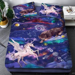 set of bed unicorn universe us queen 3pcs unicorn backpack store