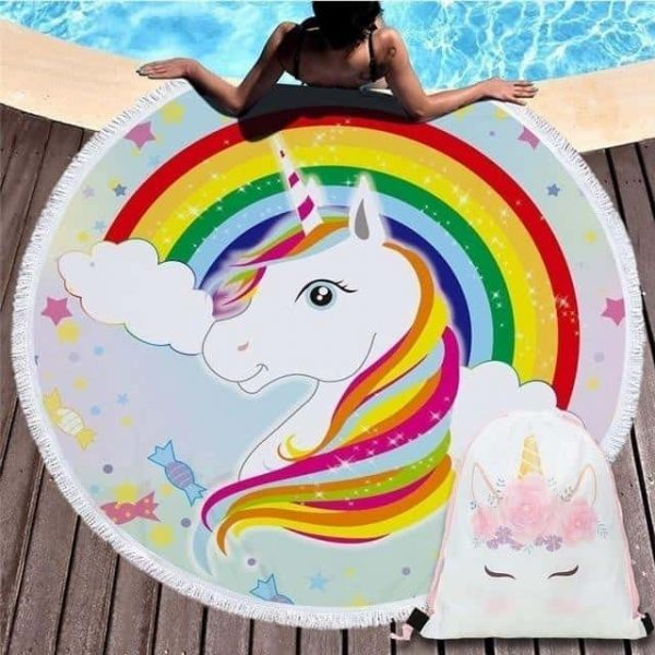 sheet of bath unicorn bow in sky at sell