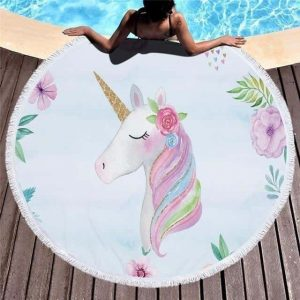 sheet of bath unicorn white