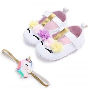 shoe unicorn baby pink and white 7 12 months at sell