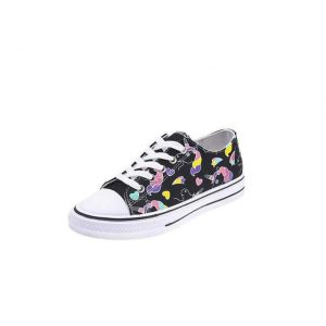shoe unicorn printed black 38