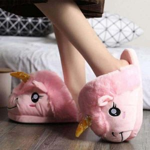 slipper unicorn pink 42