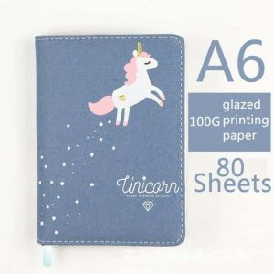 small notebook of note unicorn accessory