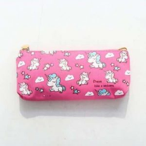 small pencil case unicorn rose