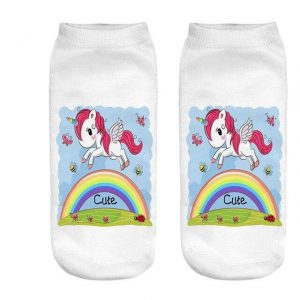 sock unicorn bow in sky