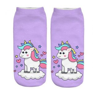 sock unicorn kawaii mauve buy