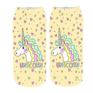sock unicorn yellow at sell