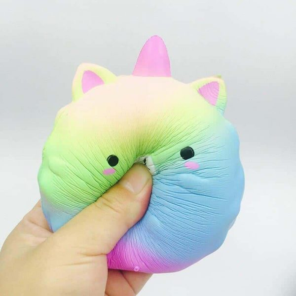 squichy unicorn ball blue and green price