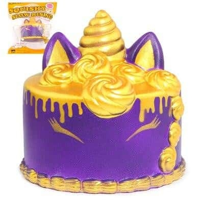 squichy unicorn form cake violet